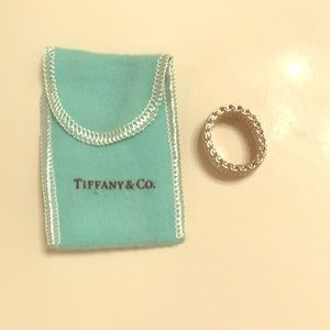Tiffany and Co. Mesh ring Size 8